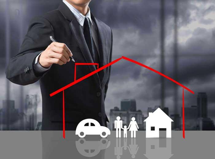 человек, бизнесмен, дом, имущество