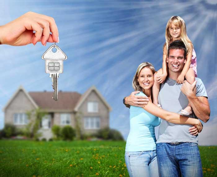 счастливая семья, дом