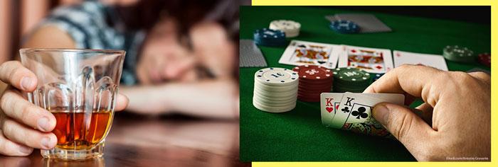 Зависимость от алкоголя и азартных игр