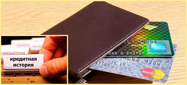 Кошелек и сбанковскими картами и кредитная история
