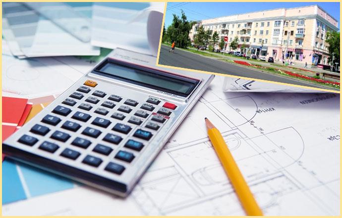 Квартирный дом, карандаш и калькулятор