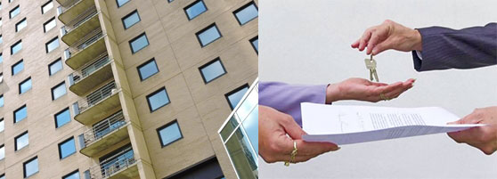 Квартиры, передача ключей и договор аренды