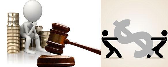 Перетягивание денег и суд