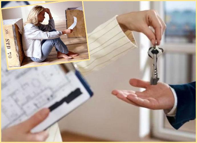 Передача ключей от квартиры и уведомление о выселении квартиранту
