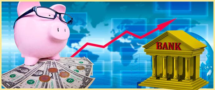 Копилка, деньги и банк