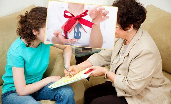 Подписывания договора и дом в подарок