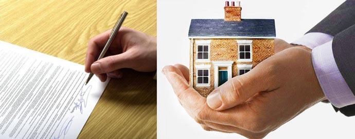 Подпись договора дарения, дом в подарок