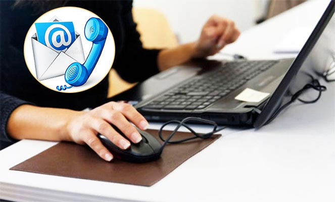 Телефон почта, нотбук и интернет