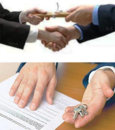 Пожатие рук, договор и выдача ключей