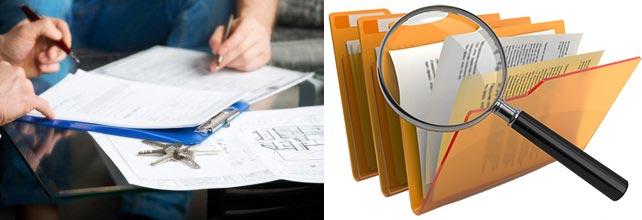 Папки с документами, подписи документов
