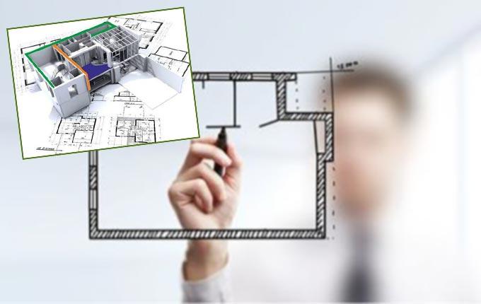 Рисование плана перепланировки квартиры