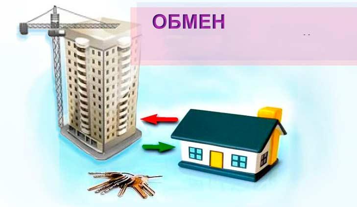 Равноценный обмен дома на квартиру