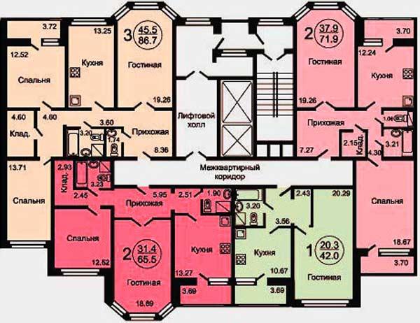 Поэтажный план многоквартирного дома