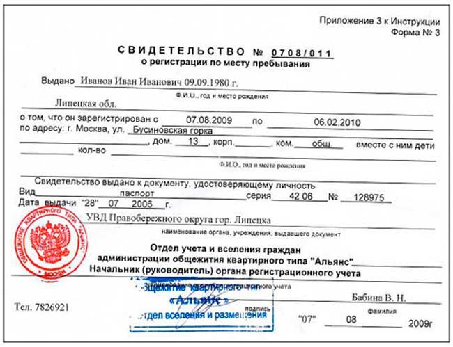 Сроки временной регистрации