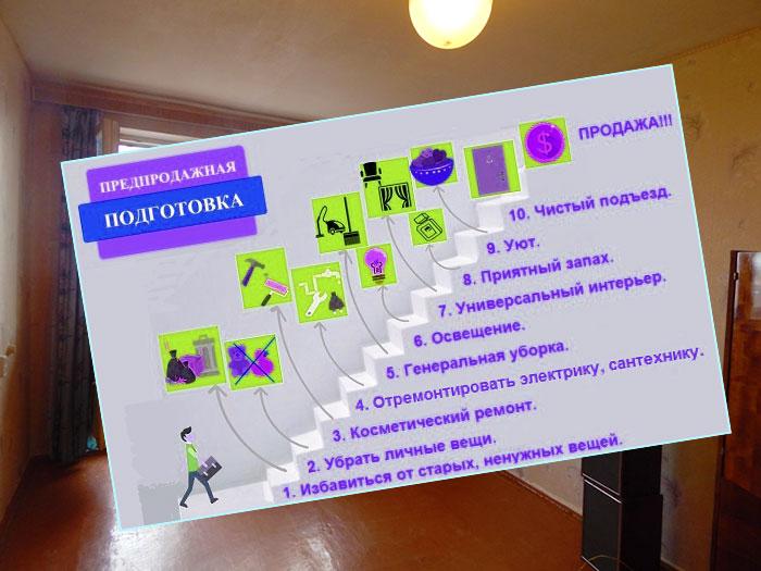 Подготовка квартиры для продажи