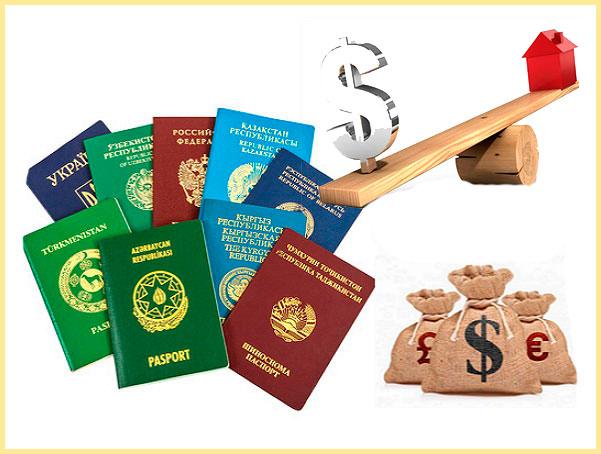 Иностранные паспорта, банковская валюта в мешках и дома