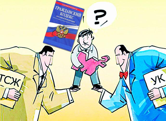 Протовостояние УК и ТСЖ и Гражданский Кодекс РФ