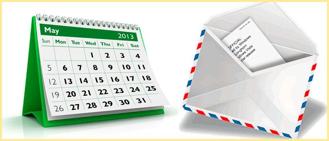 Календарь и письмо