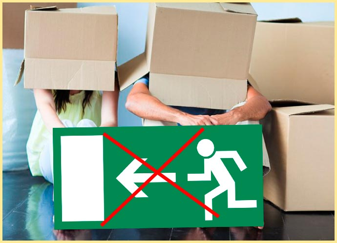 Люди в коробках и отмена выселения