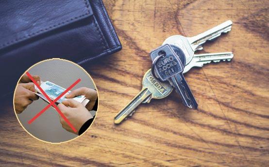 Ключи от квартиры и неоплата
