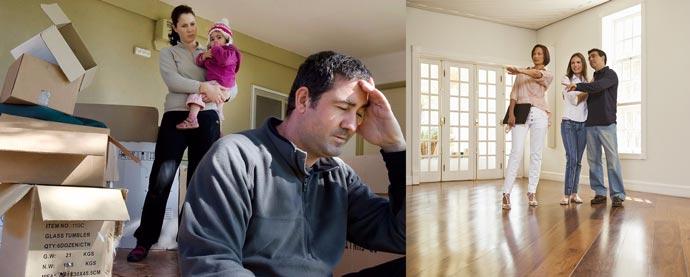 ВЫселение и осмотр нового жилья