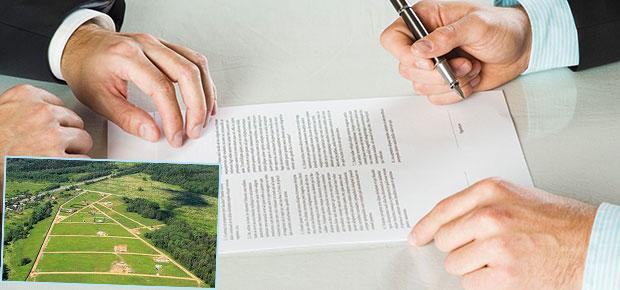 Подписание договора и участки земли
