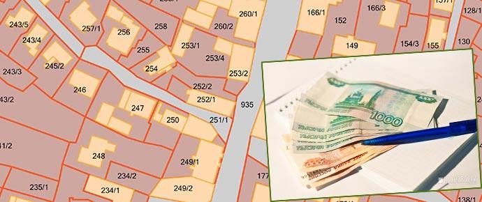 Карта недвижимости, деньги и кадастровый план