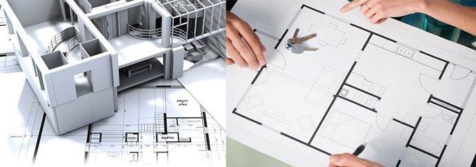 Рисунки и проекты перепланировки квартиры