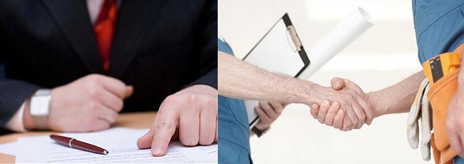 Рукопожатие и документы