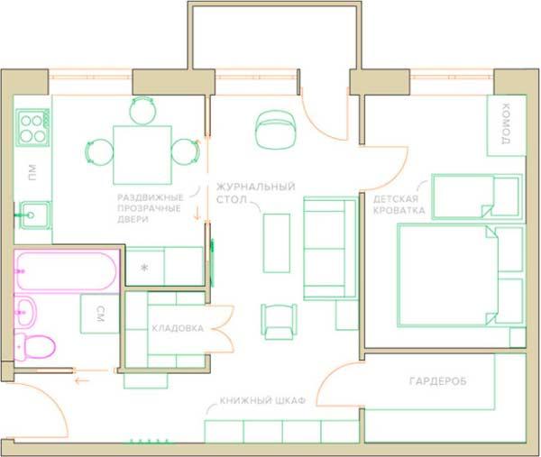 План расширения кухни