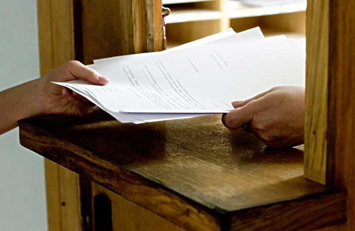 Сдача документов на временную регистрацию