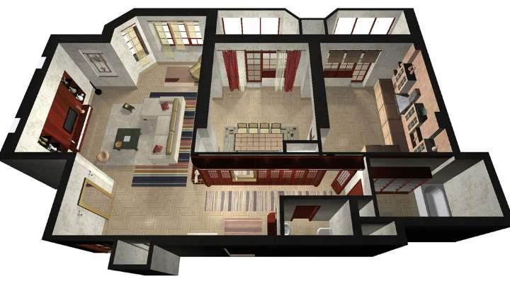 Вид хорошей квартиры