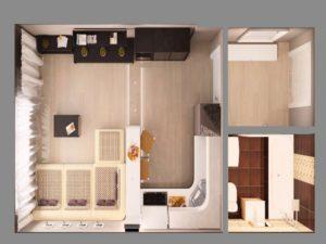 - двери и стены предназначены для разделения комнаты от помещений технического назначения - санузел, туалет, кладовка;